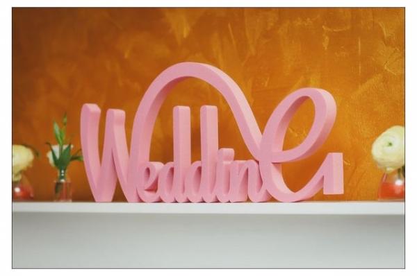 Объемные буквы из пенопласта, Wedding