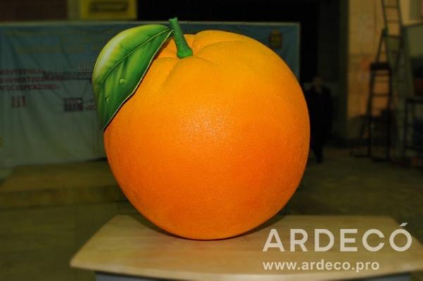 Фигура апельсина из пенопласта 3D
