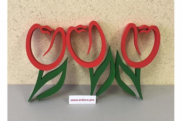 Тюльпаны из пенопласта