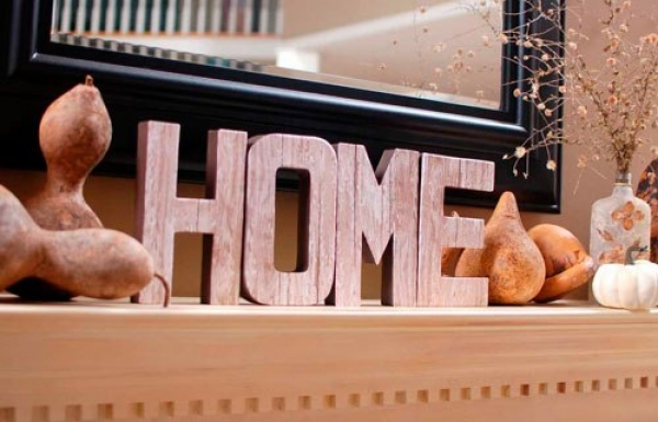 """Объемные буквы """"HOME"""" под заказ"""