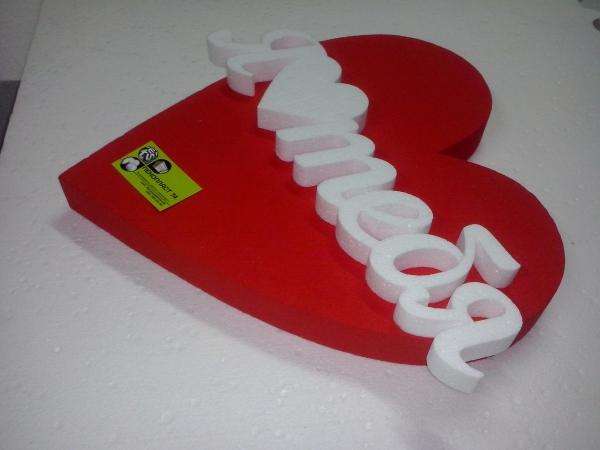 """Сердце♡ """"Я ♡ тебя!"""", белый/красный"""